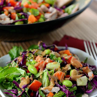 Chopped Thai Crunch Salad with Sweet and Spicy Dressing.