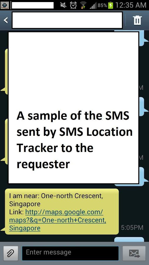 SMS Location Tracker- screenshot