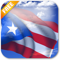3D Puerto Rico Flag icon