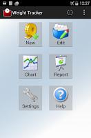 Screenshot of Weight Tracker