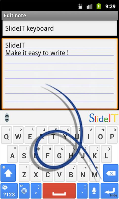 SlideIT Google Skin- screenshot