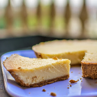 Classic Baked Cheesecake.