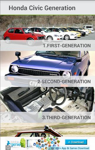 Honda Civic Generation History