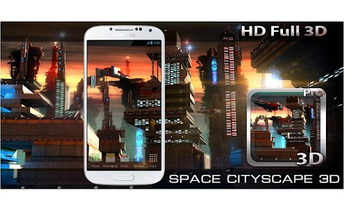 Space Cityscape 3D LWP- screenshot thumbnail