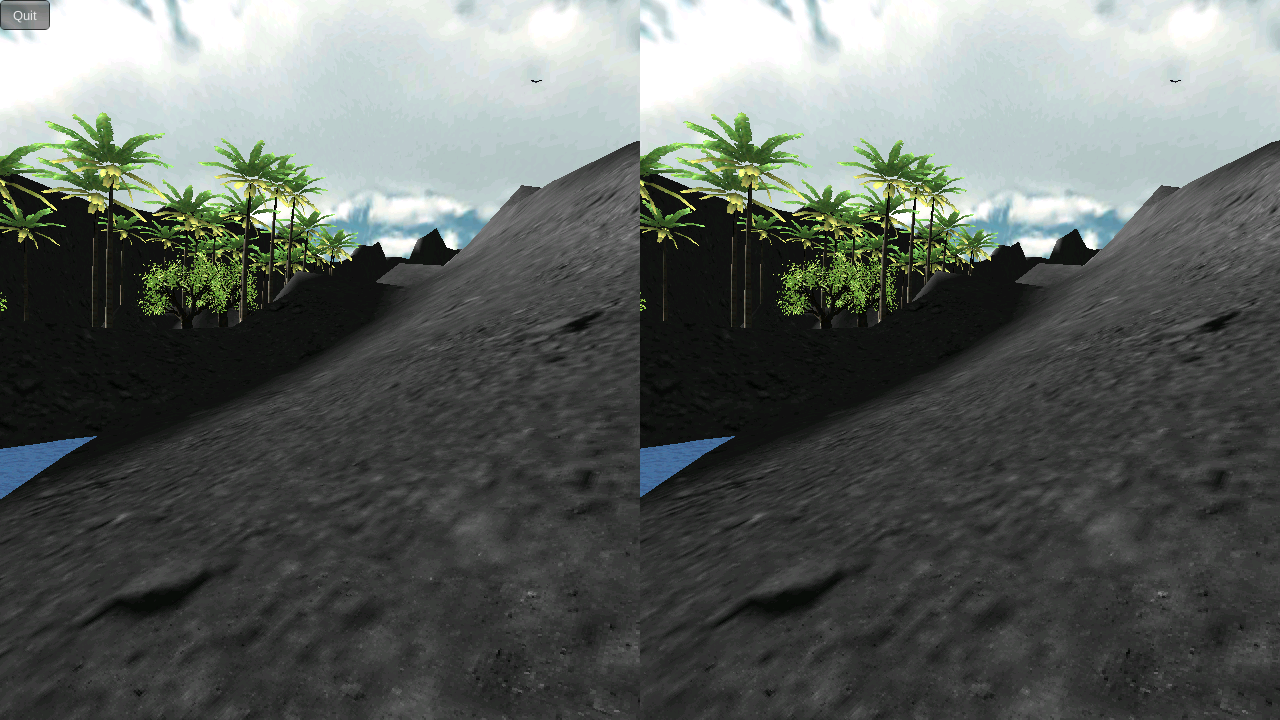 Durovis Dive Volcano VR Demo - screenshot