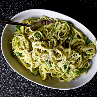 Linguine with Pea Pesto