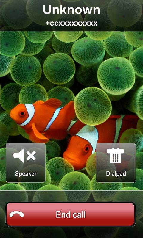 BIG! caller ID Theme iPhone - screenshot