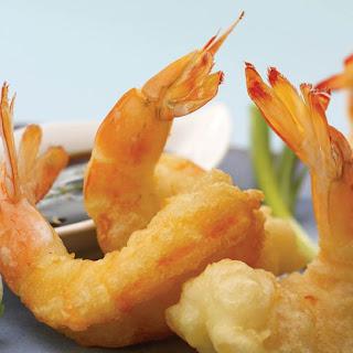 Sesame Tempura Shrimp.