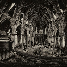 Architectural History Needs to be Preserved not Demolished by Dawn Robinson - Buildings & Architecture Decaying & Abandoned ( preservation of history, urban decay, gothic revivial, architecture, medieval architecture, medievalism, history, victorian gothic, beauty in decay, 19 century, neo gothic, victorian, abandoned church, decay, abandoned,  )