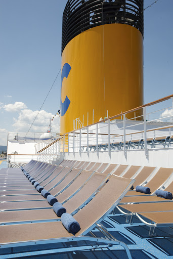 Costa-Pacifica-deck-chairs - Plenty of room to soak in the sun on Costa Pacifica.
