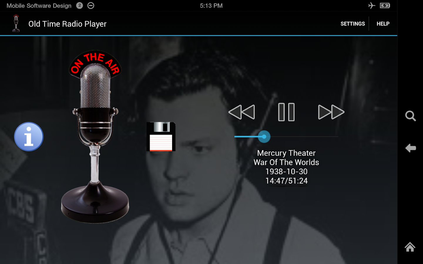 Old Time Radio Player (no ads)- screenshot
