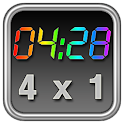 Rainbow Clock Widget (4×1) logo