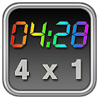 Rainbow Clock Widget (4x1) icon