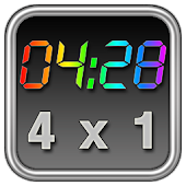 Rainbow Clock Widget (4x1)