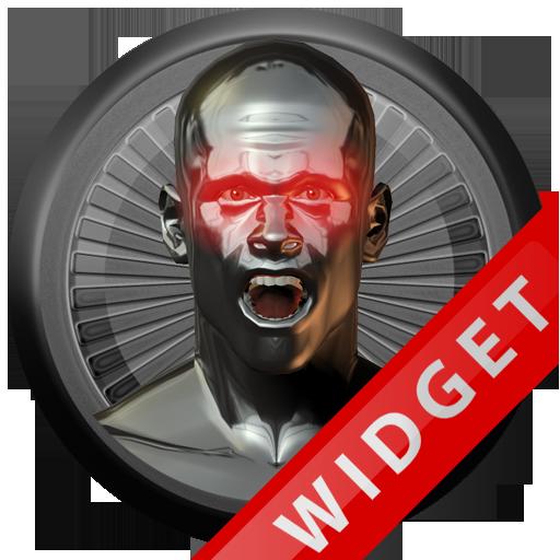 Poweramp Widget Red Atlantis