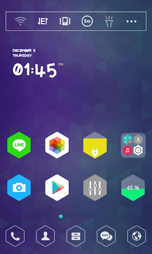 Hexagon dodol theme