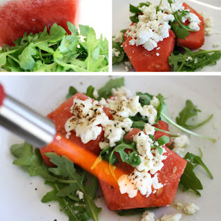Watermelon, Arugula, Chevre Salad