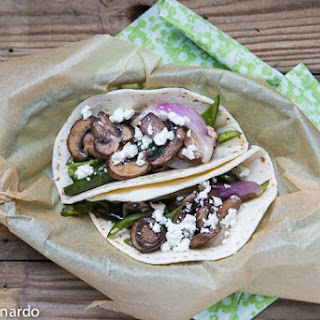 Mushroom & Poblano Tacos With Goat Cheese