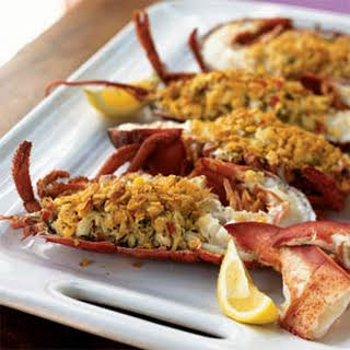 Crab-Stuffed Lobster with Citrus Vinaigrette.
