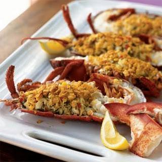 Crab-Stuffed Lobster with Citrus Vinaigrette.