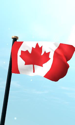 加拿大旗3D免费动态壁纸