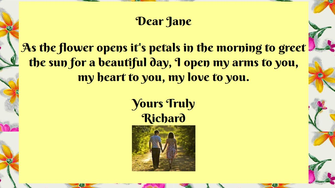 Love Letter eCards- screenshot