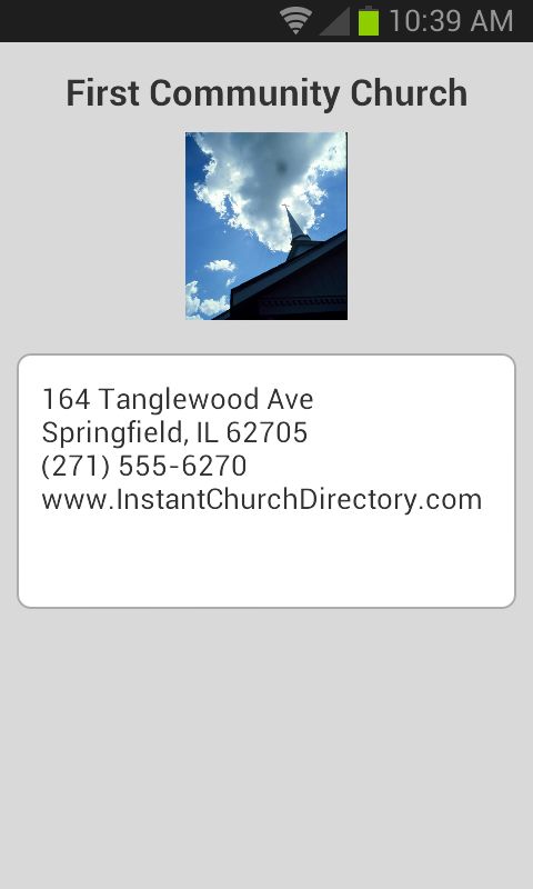 Instant Church Directory - screenshot