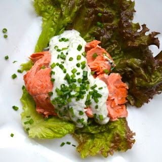 Poached Salmon With Dill Horseradish Sauce