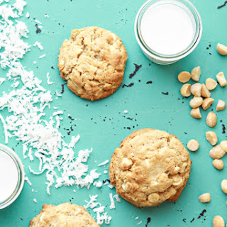 White Chocolate Lemon Coconut Cookies