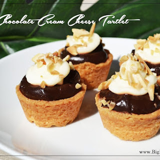 Chocolate Cream Cheese Tartlet.