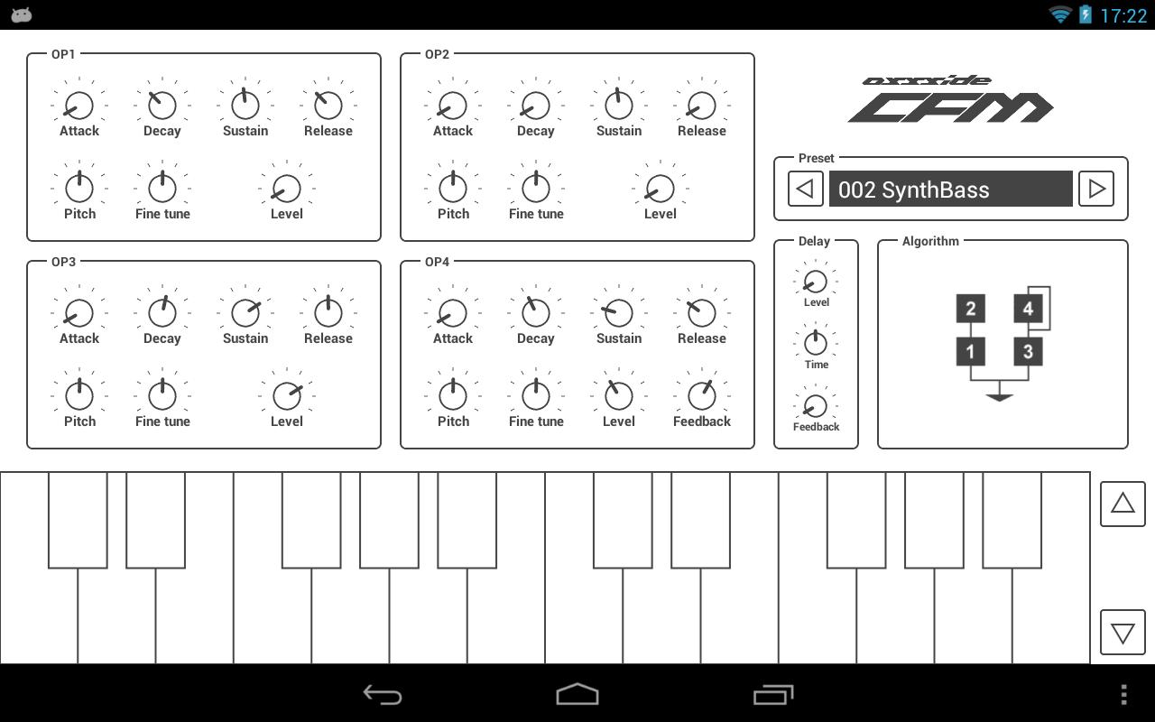 Common FM Synthesizer- screenshot