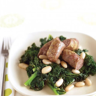 Sausages with Kale and White Beans