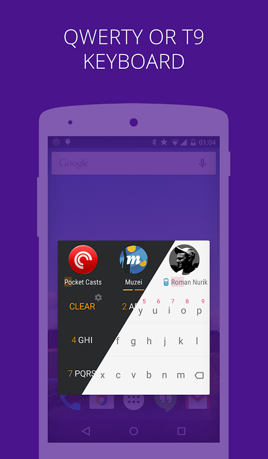 AppDialer Pro search on phone - screenshot