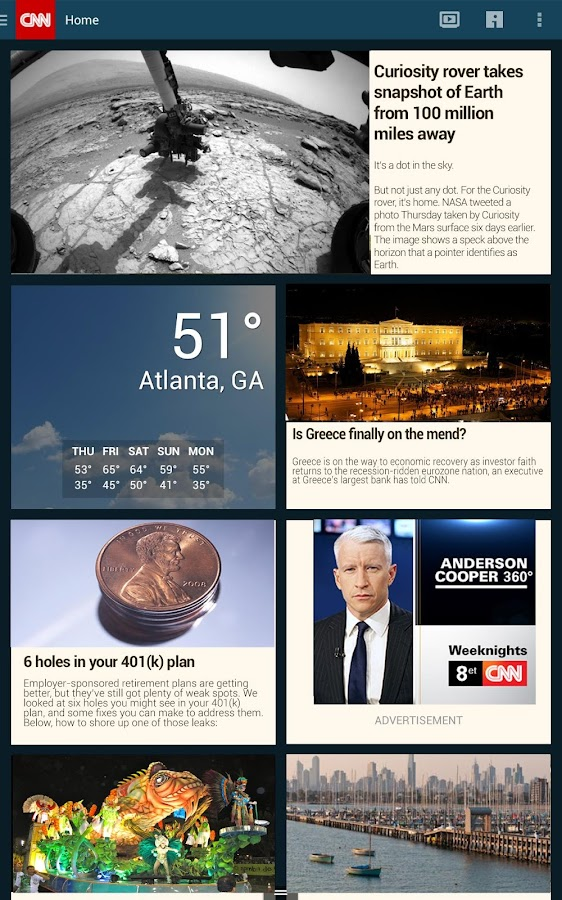 CNN App for Android - screenshot