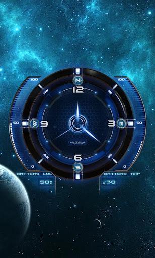 Analog Clock Space Theme