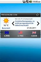 Screenshot of PresaOnline, Stiri din Romania