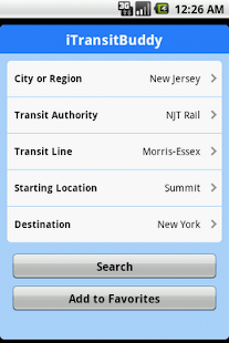 iTransitBuddy NJT Rail Lite - screenshot thumbnail