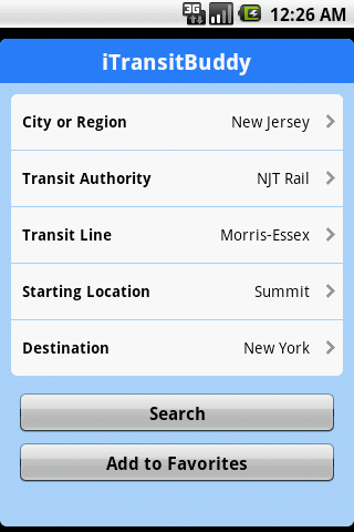 iTransitBuddy NJT Rail Lite - screenshot