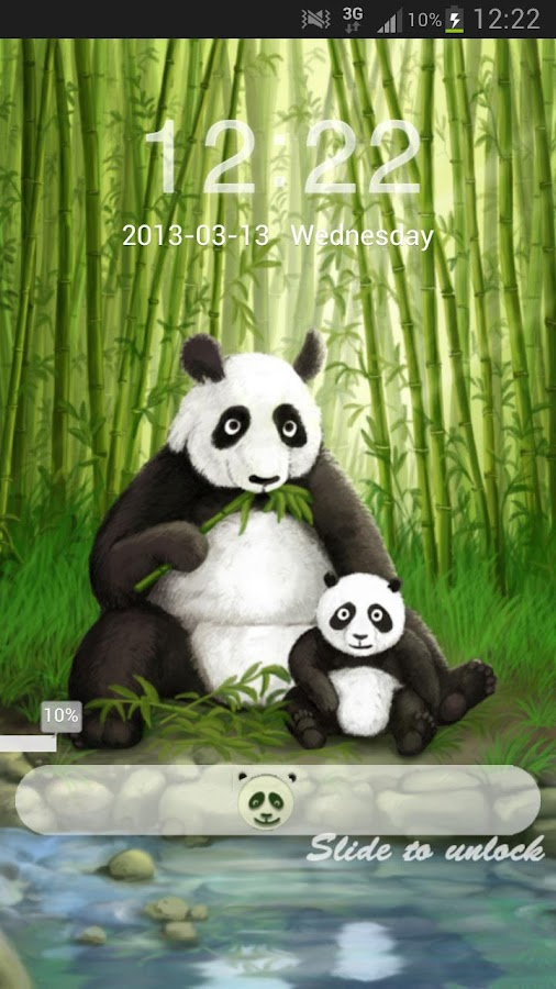 GO Locker Theme Panda - screenshot
