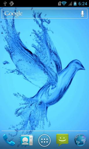 Crystal bird live paper