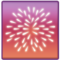 4th of July fireworks icon