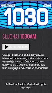 Polskie Radio 1030AM & 1300AM- screenshot thumbnail
