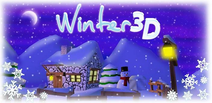Winter 3D Live Wallpaper - красивые зимние живые обои