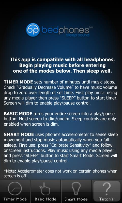 Bedphones Music Controller - screenshot
