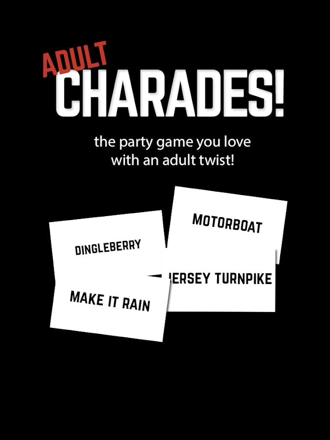 games adult charades card game