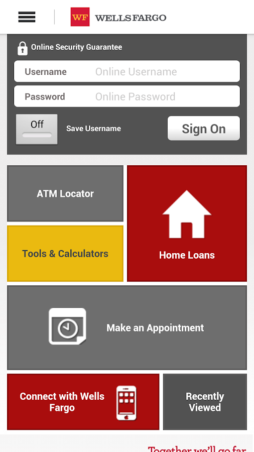 Wells Fargo Mobile - screenshot