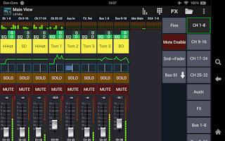 Screenshot of Mixing Station XM32 Pro