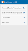 Screenshot of SmartAccess Prepaid Visa Card