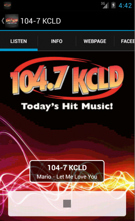 104.7 KCLD-FM- screenshot