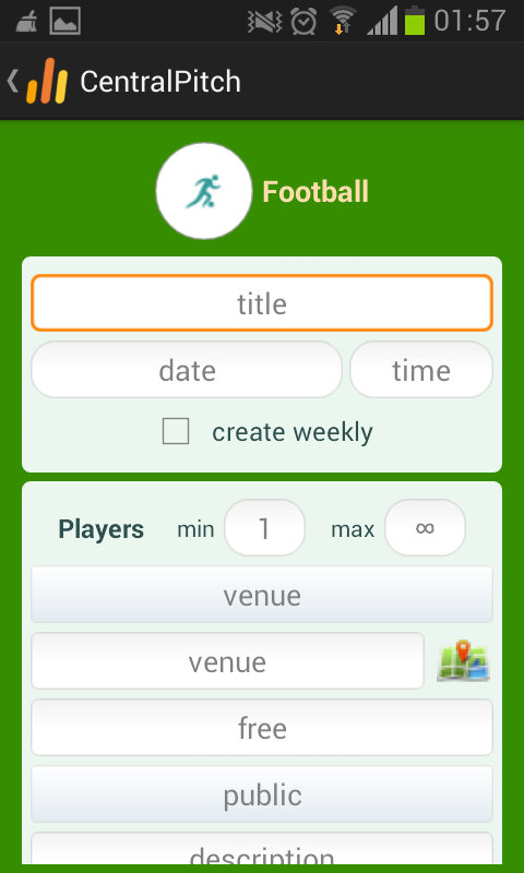 CentralPitch- screenshot